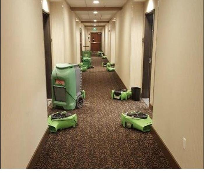 Drying Equipment At Hotel Cleanup After