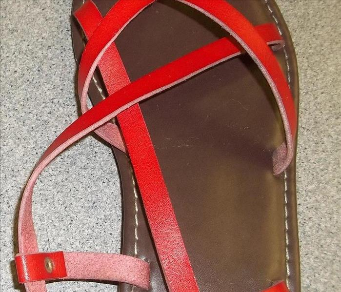 Sandals damaged by fire restored to new After