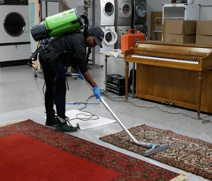 Carpet cleaning after a water loss